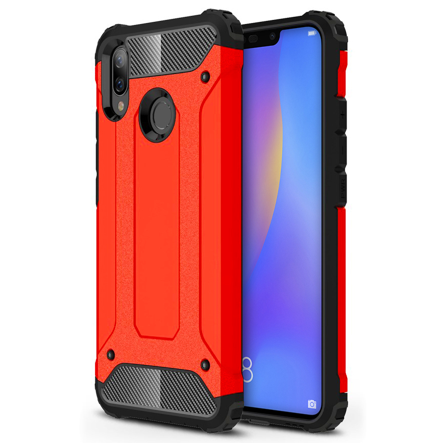 best service 17da0 7a5d1 Military Defender Shockproof Case - Huawei Nova 3i (Red)